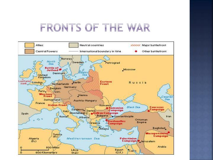 Fronts of the War