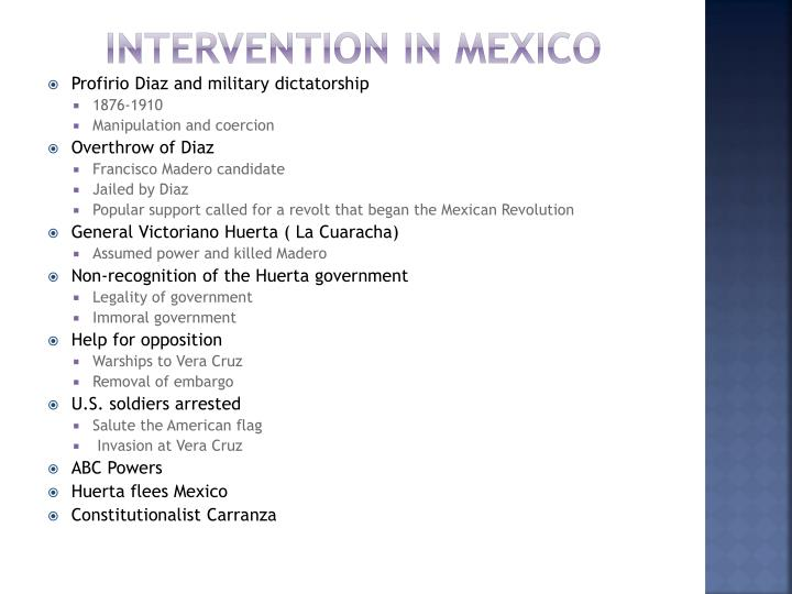 Intervention in Mexico