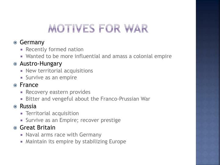 Motives for War