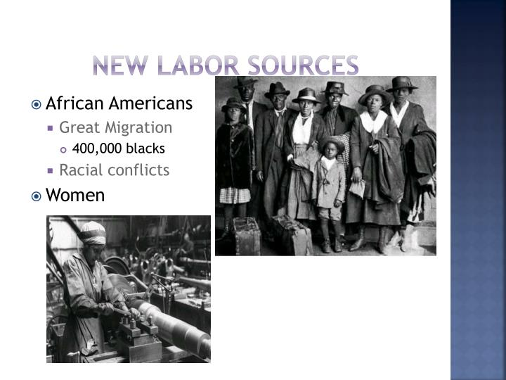 New labor sources