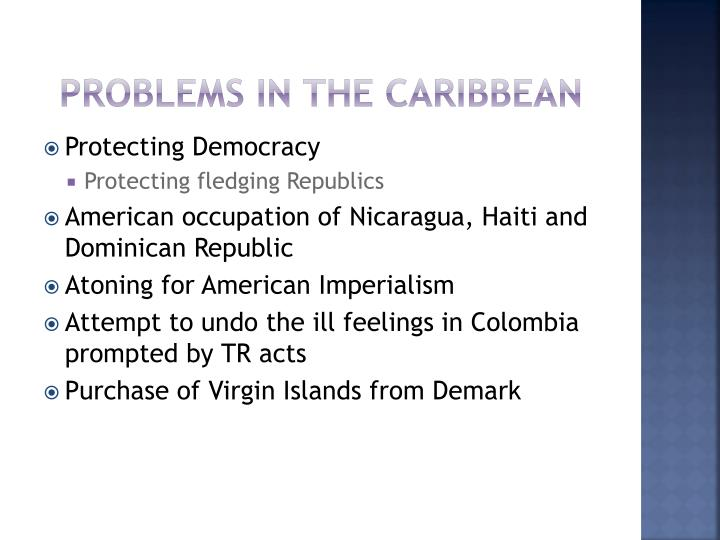 Problems in the Caribbean