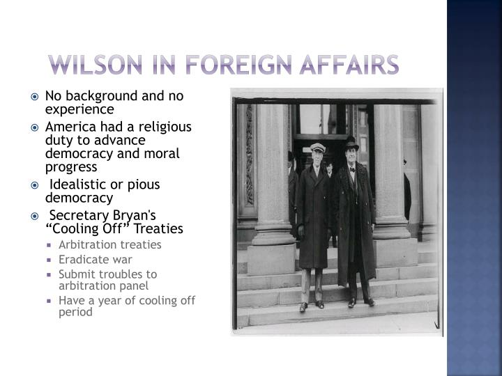 Wilson in Foreign Affairs