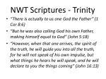 nwt scriptures trinity