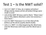 test 1 is the nwt solid