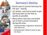 germany s destiny