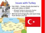 issues with turkey