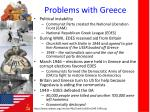 problems with greece