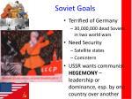 soviet goals