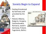 soviets begin to expand