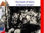 the death of stalin a massive stroke