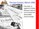 the iron curtain march 1946