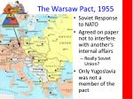 the warsaw pact 1955