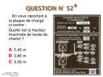 question n 52
