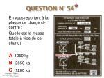 question n 54
