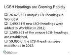 lcsh headings are growing rapidly