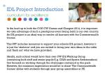 idl project introduction