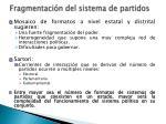 fragmentaci n del sistema de partidos1