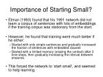 importance of starting small