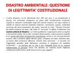 disastro ambientale questione di legittimita costituzionale1
