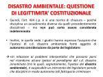 disastro ambientale questione di legittimita costituzionale2