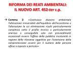 riforma dei reati ambientali il nuovo art 452 ter c p1