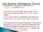 lab activity multiplexer circuit