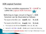 xor logical function