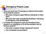 emergency powers laws