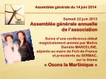assembl e g n rale du 14 juin 201412