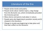 literature of the era