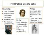 the bront sisters cont