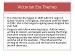 victorian era themes