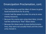 emancipation proclamation cont