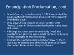 emancipation proclamation cont1