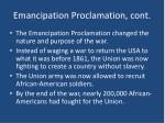 emancipation proclamation cont2