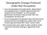 demographic changes produced under nazi occupation