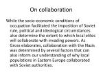 on collaboration