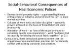 social behavioral consequences of nazi economic polices