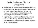 social psychology effects of occupation