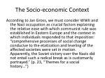the socio economic context