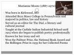 marianne moore 1887 1972
