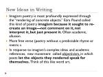 new ideas in writing