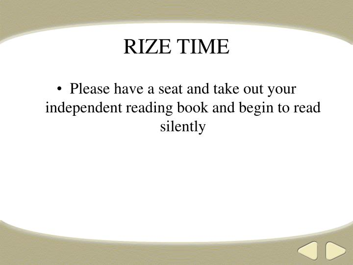 rize time n.