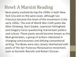 howl a marxist reading