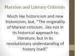 marxism and literary criticism1