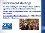 endorsement meetings