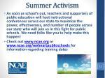 summer activism