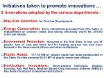 initiatives taken to promote innovations1