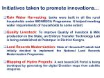 initiatives taken to promote innovations2