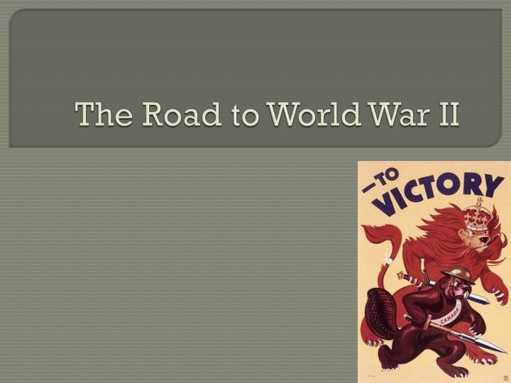 the road to world war ii n.